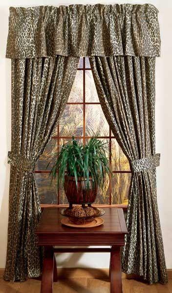 Safari Living Room Curtains Leopard Safari Print Designer Window