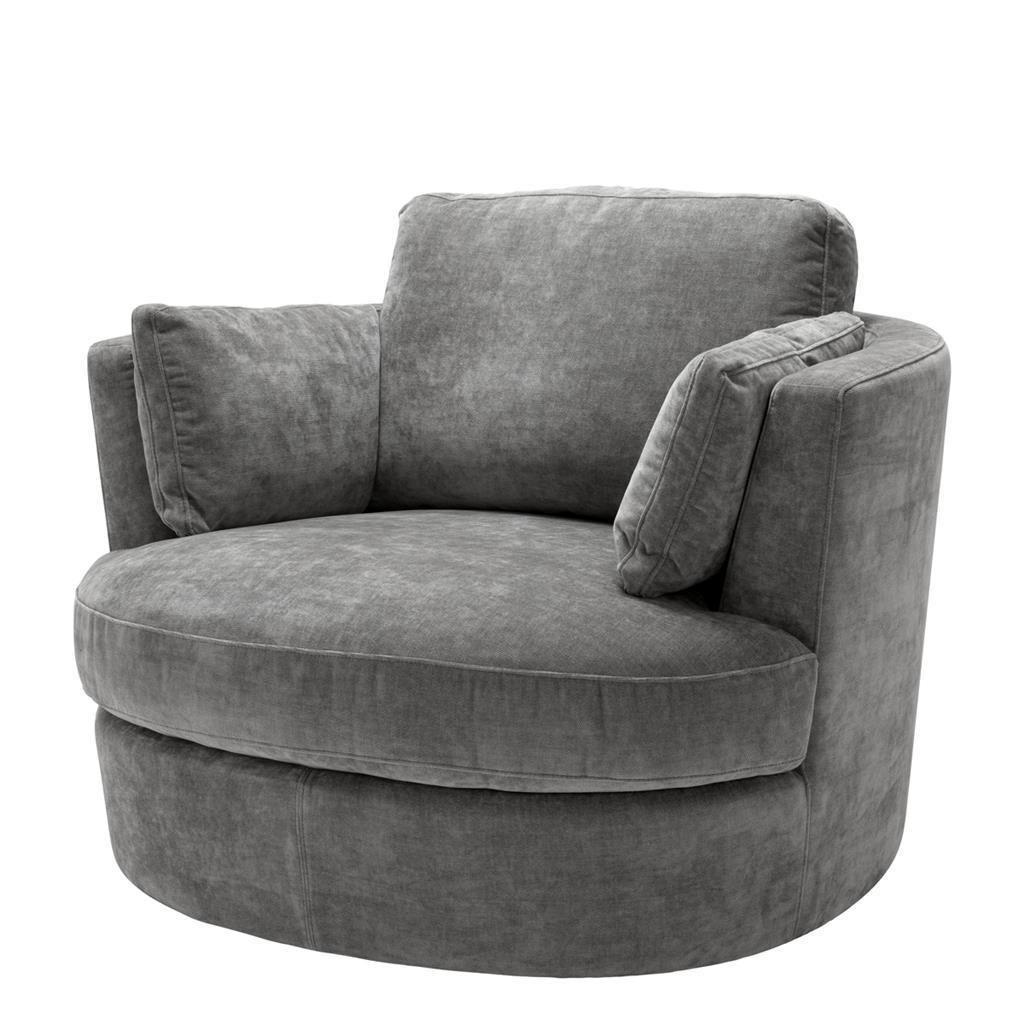 Gray velvet swivel chair eichholtz clarissa swivel