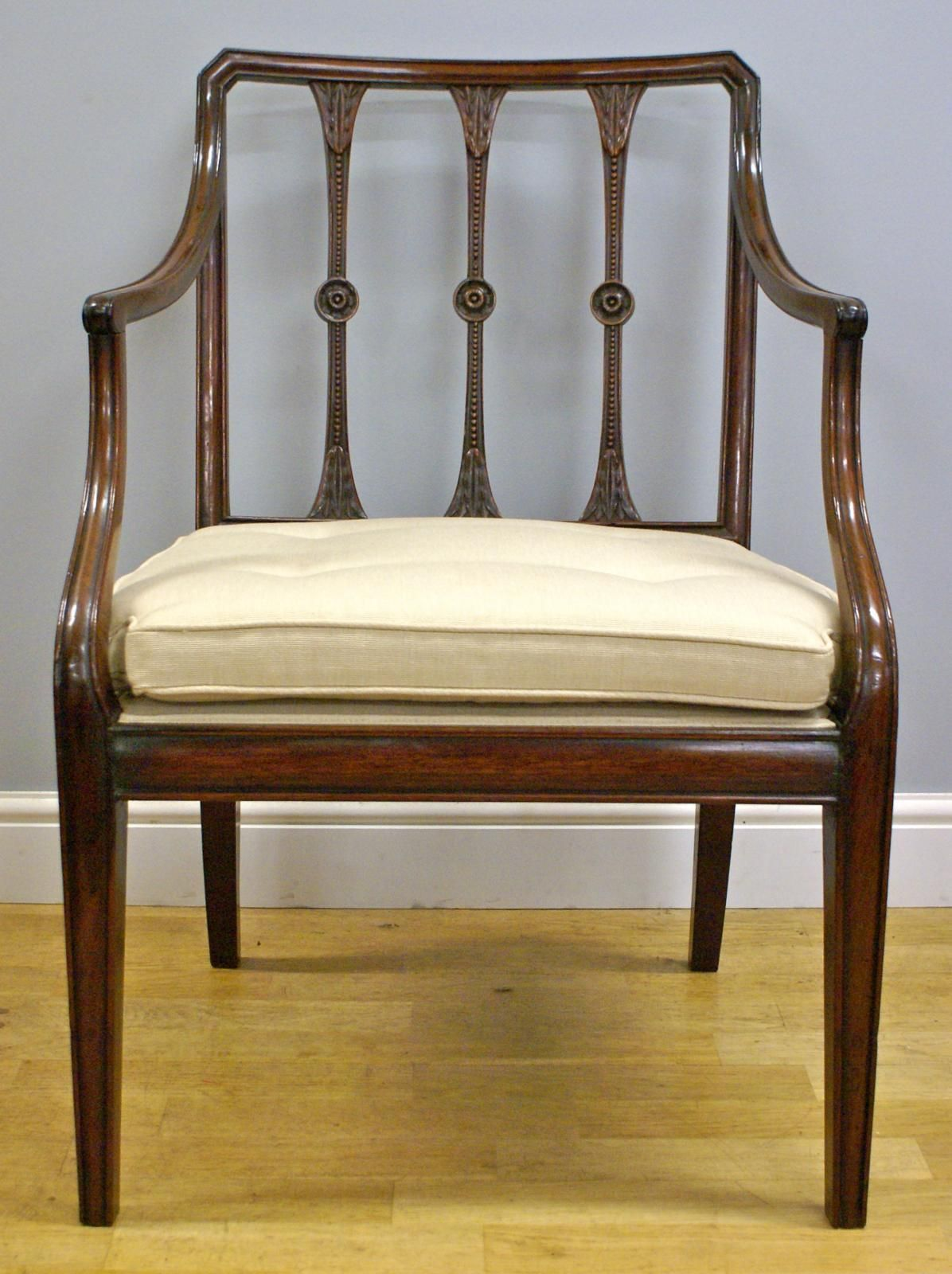 A Hepplewhite period Cuban mahogany arm chair | Looking For Antiques - A Hepplewhite Period Cuban Mahogany Arm Chair Looking For