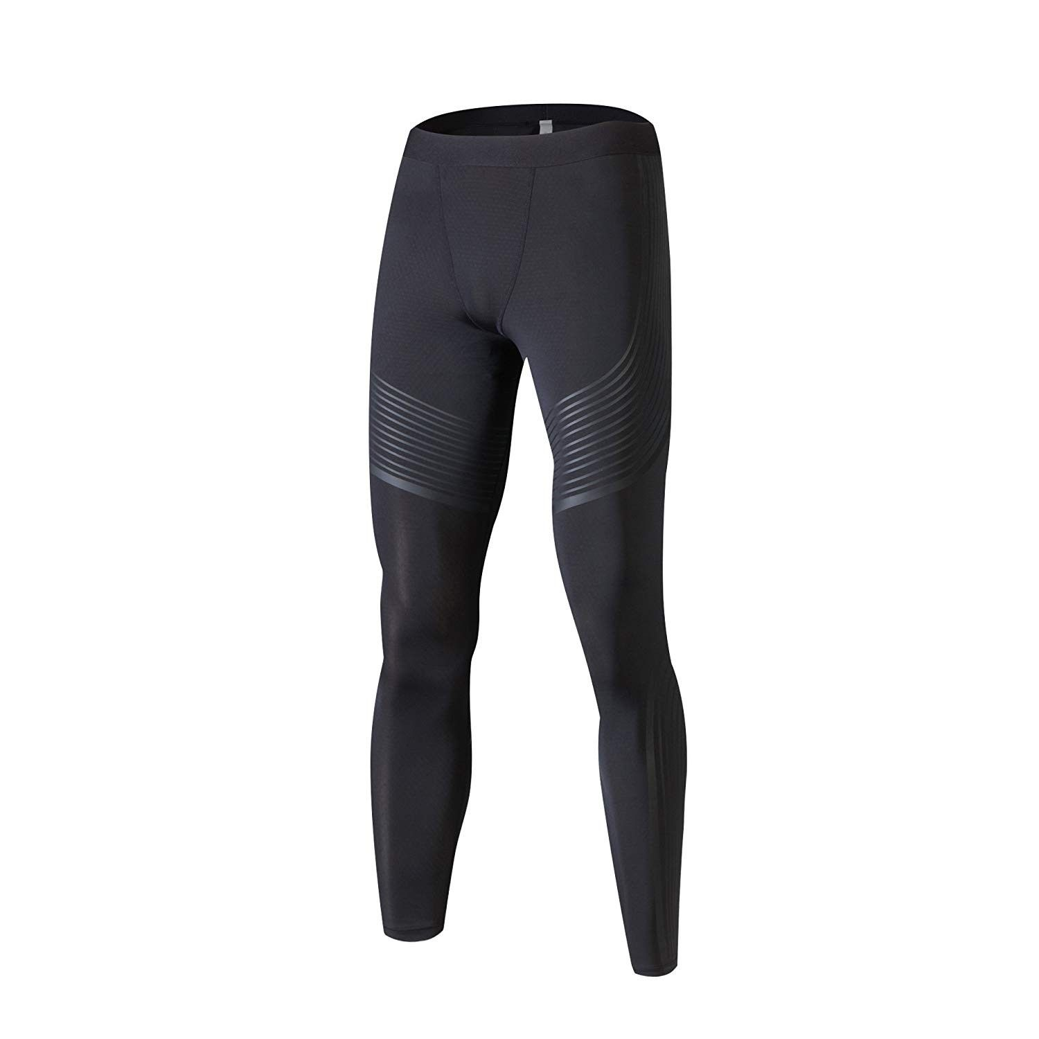 WSHINE Mens Compression Shorts Basketball Fitness Running Pants Tight Base Layer