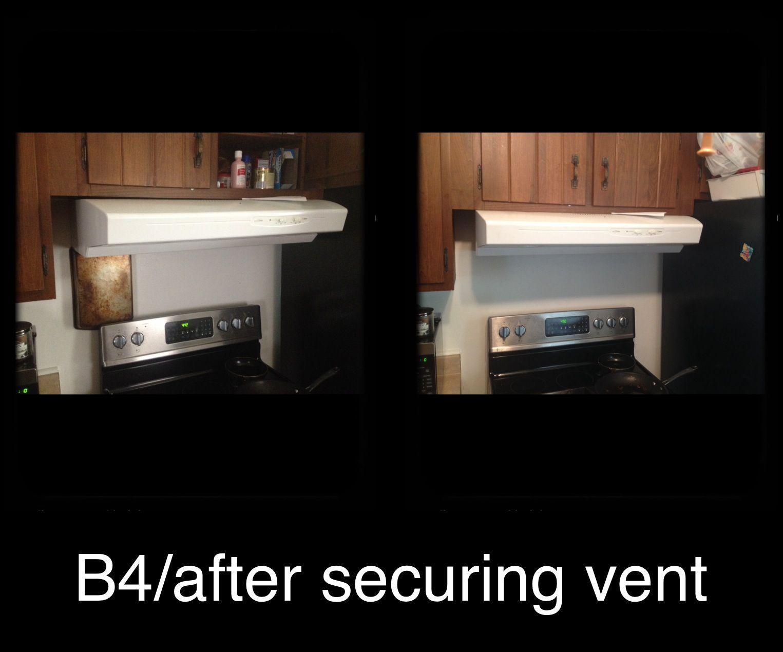 Securing Vent Kitchen appliances, Interior, Kitchen
