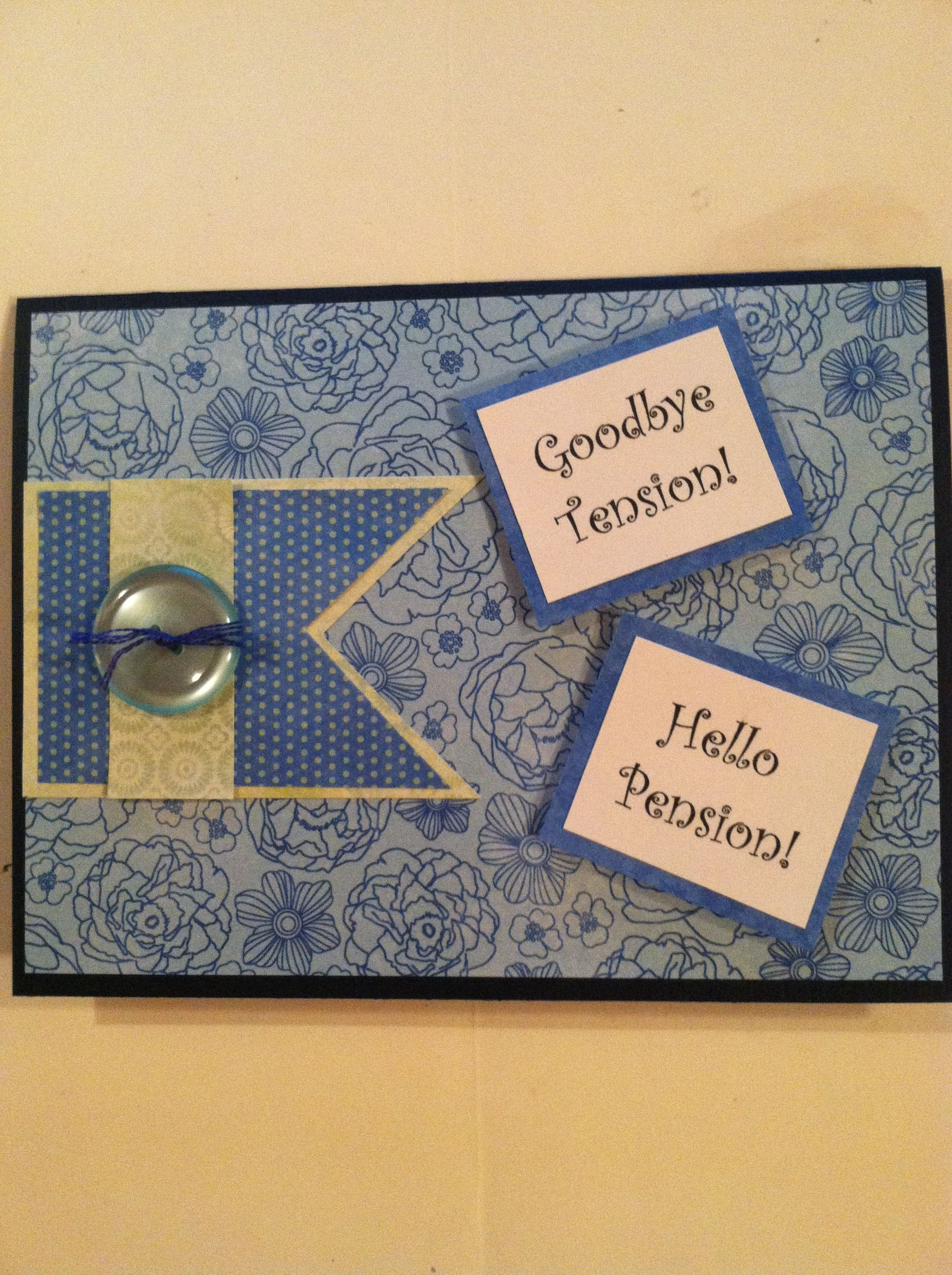 Scrapping Mommy: Happy Retirement |Handmade Retirement Cards