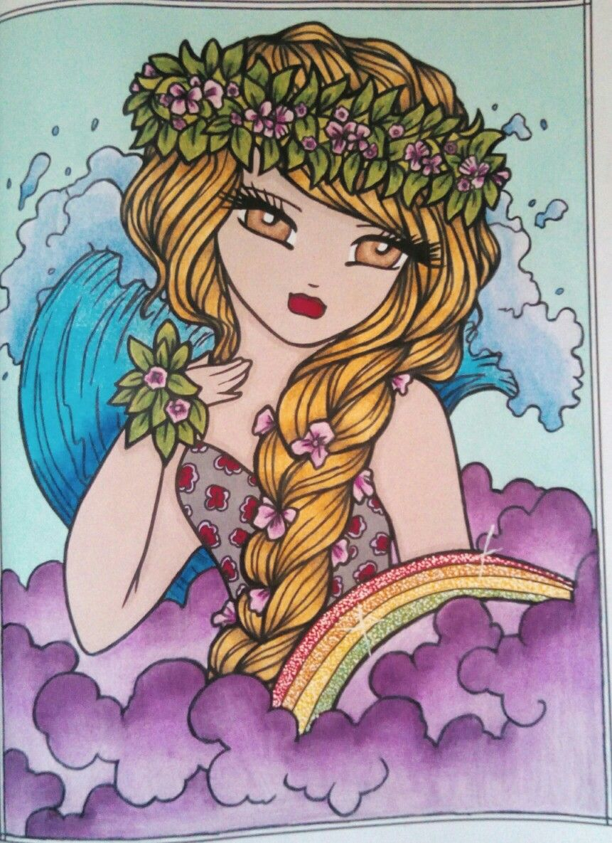 Maui Mermaids Island Whimsy Girls Mermaid Coloring Book Felt Flowers Patterns Mermaid Island [ 1185 x 861 Pixel ]