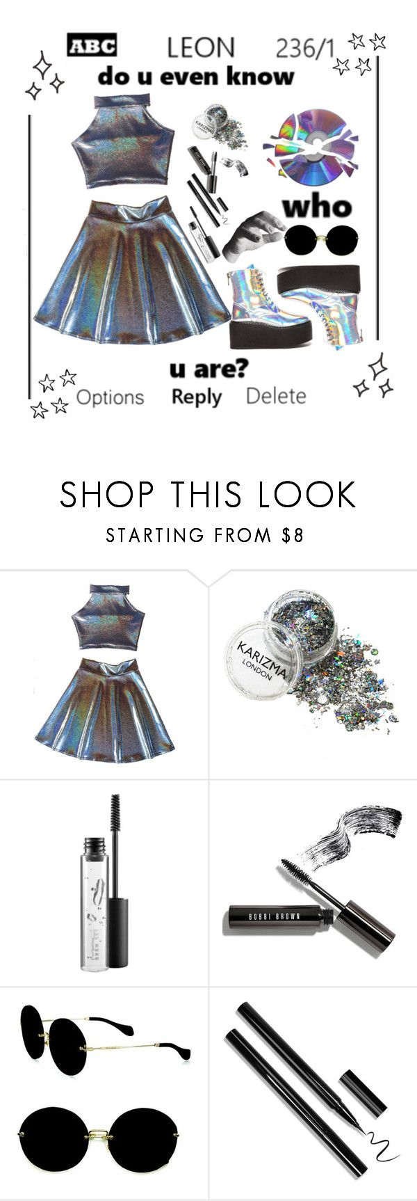 """""""stuck on a  f e e l i n g"""" by makennahanner ❤ liked on Polyvore featuring MAC Cosmetics, Bobbi Brown Cosmetics, Miu Miu and Harry Allen"""