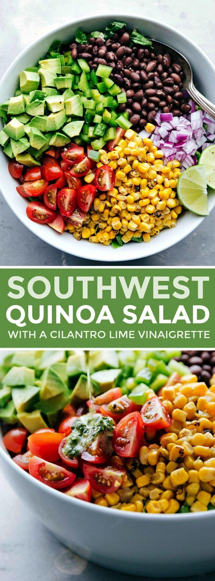 QUINOA SALAD The best ever, healthy Southwest Quinoa Salad with a flavorful cilantro-lime vinaigret