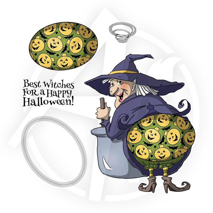 Halloween Theme Rubber Stamp Set