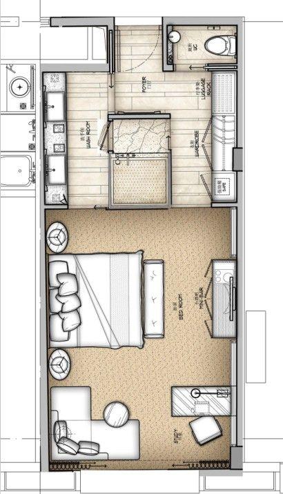 Hotel Room Plan: 一个酒店的标准间30种思路_MT-BBS