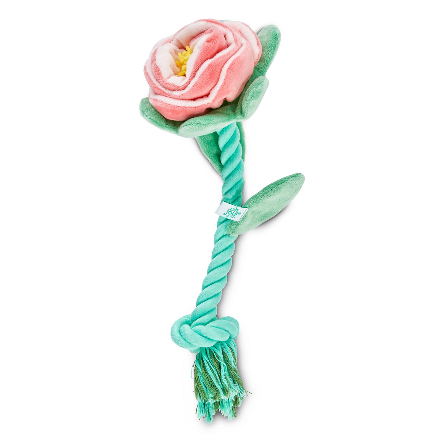 Oh Joy Oh What Fun Floral Rope Dog Toy Medium Rope Dog Toys