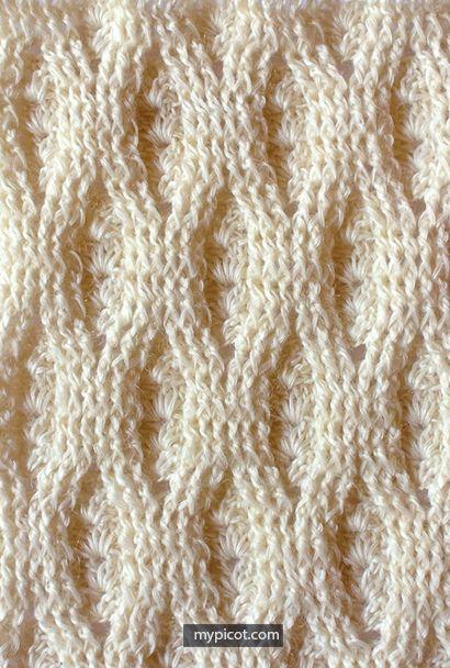 Копилка узоров - Крючком: безотрывное вязание 53