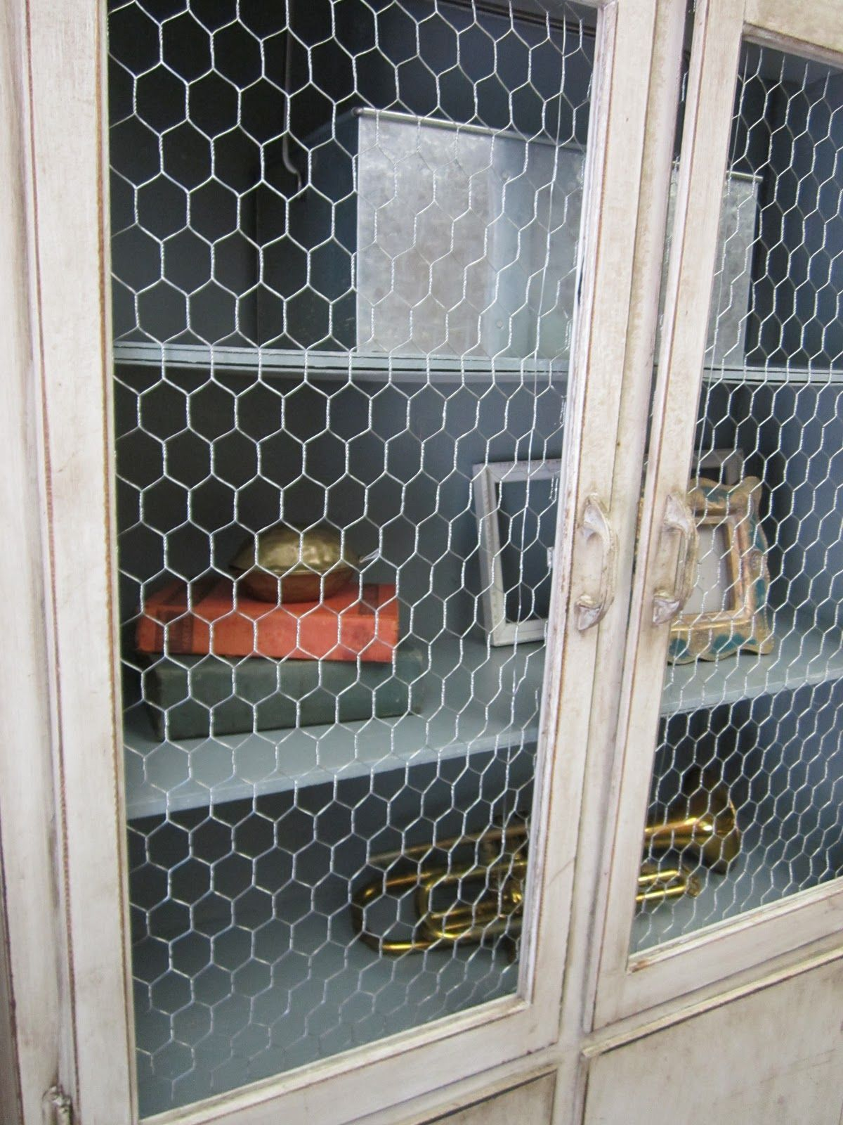 Photo of Chicken Wire Cabinet