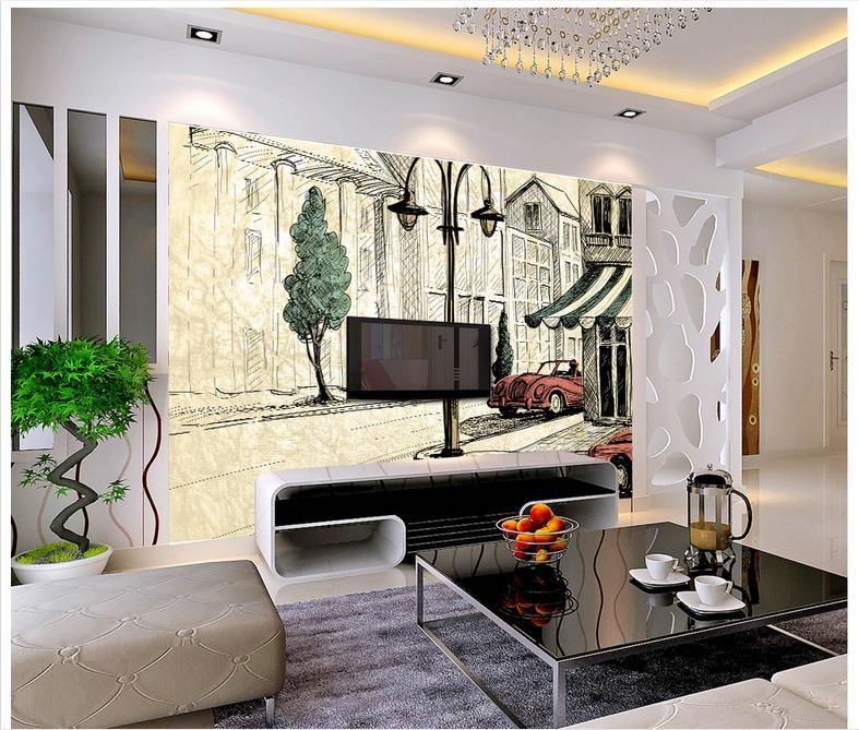 Photo Wallpaper Murals For Walls 3 D Abstract Hand Painted European Nostalgia Chang E 3home Decor
