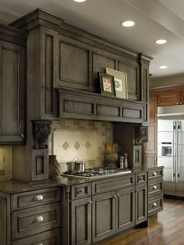 Digging These Gray Cabinets As Potential Stain For Our Cabinets But How To Replicate Stained Kitchen Cabinets Rustic Kitchen Cabinets Staining Cabinets