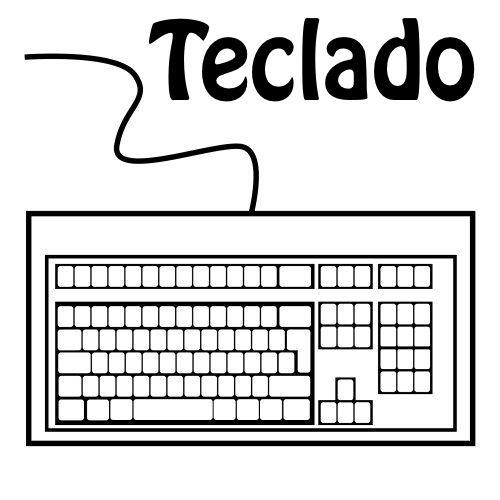 Imagen Relacionada Computadora Para Colorear Clases De Computacion Teclado Dibujo