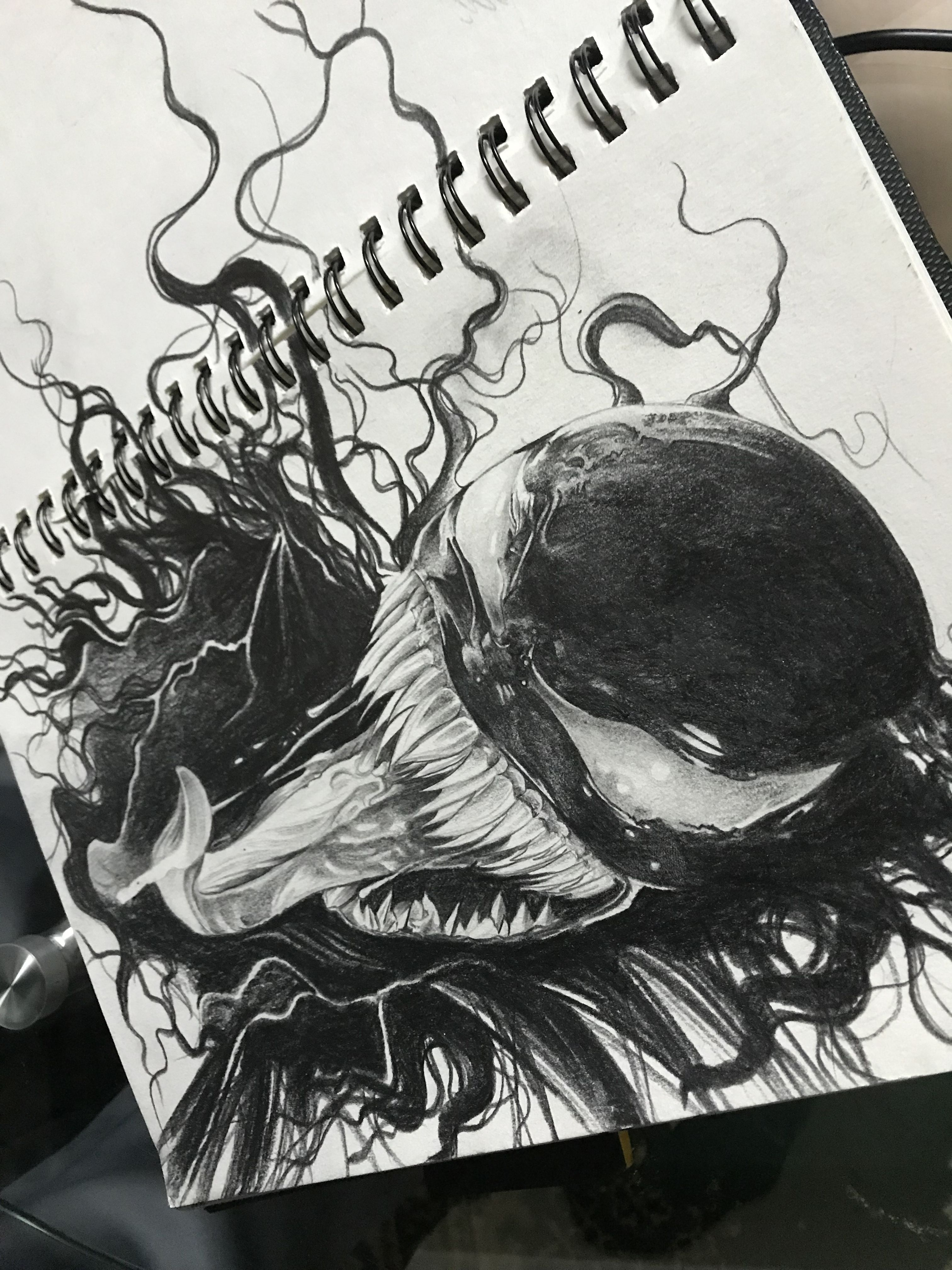 Venom Marvel Pencil Sketch Paintings And Sketches In 2019
