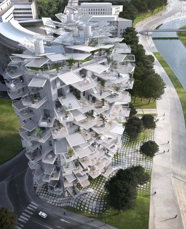 White Tree, a Nature-Inspired Tower for Montpellier by Sou Fujimoto