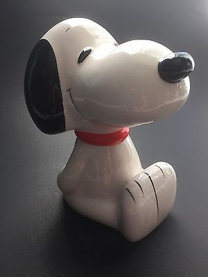 Vintage Snoopy Coin Bank 1966 Piggy Bank Peanuts Collectible Ceramic Bank Peanuts Collectibles Snoopy Paint And Sip