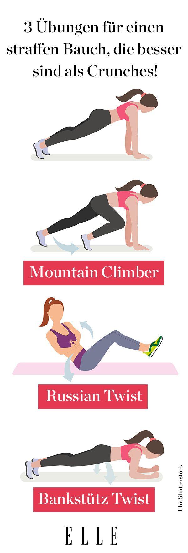 Straffer Bauch - diese 3 Übungen sind effektiver als Crunches ...