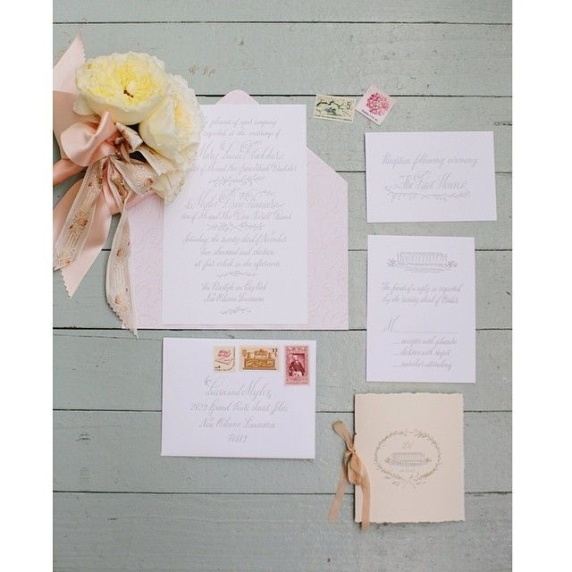 #tyingtheknotweddings requests the honor of your viewing of Lucia and Myles #neworleanswedding on @Snippet & Ink today! Photo by @Greer Manolis, Invites by @hollychollon, Florals by @kimstarrwisefloralevents! www.snippetandink.com
