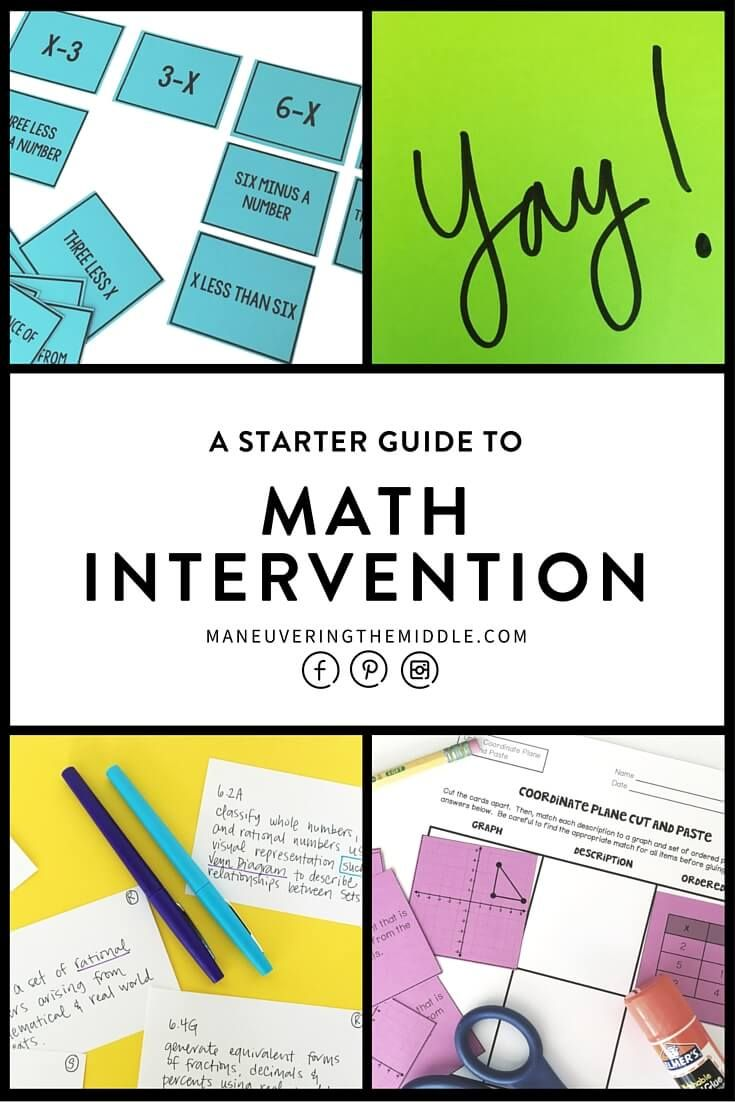 Math Intervention Schedule and Freebie | Pinterest | Math ...