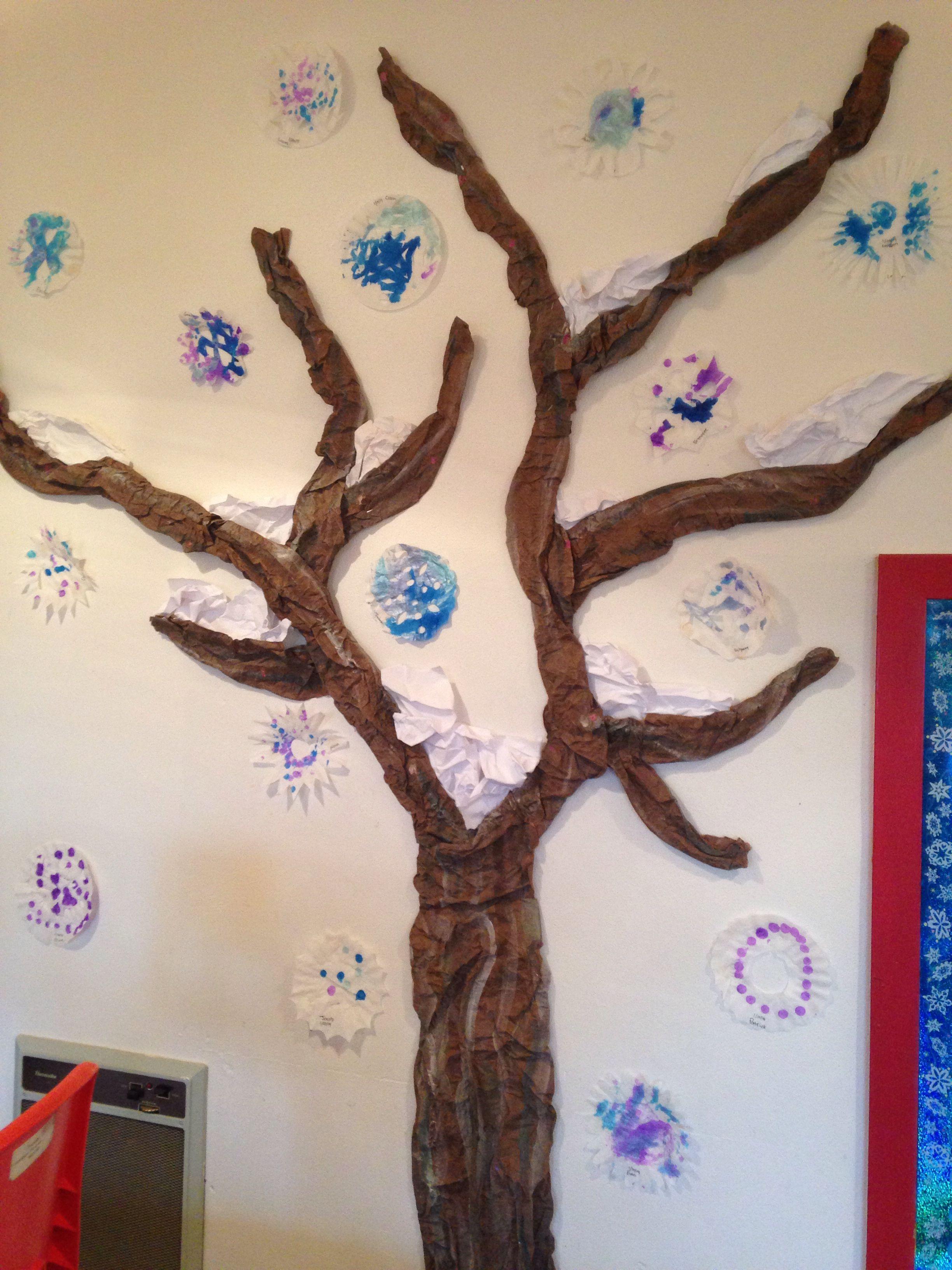 Preschool winter tree