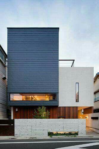 Pin by agus sofyan on nice exterior pinterest dise o for Diseno exterior casa contemporanea