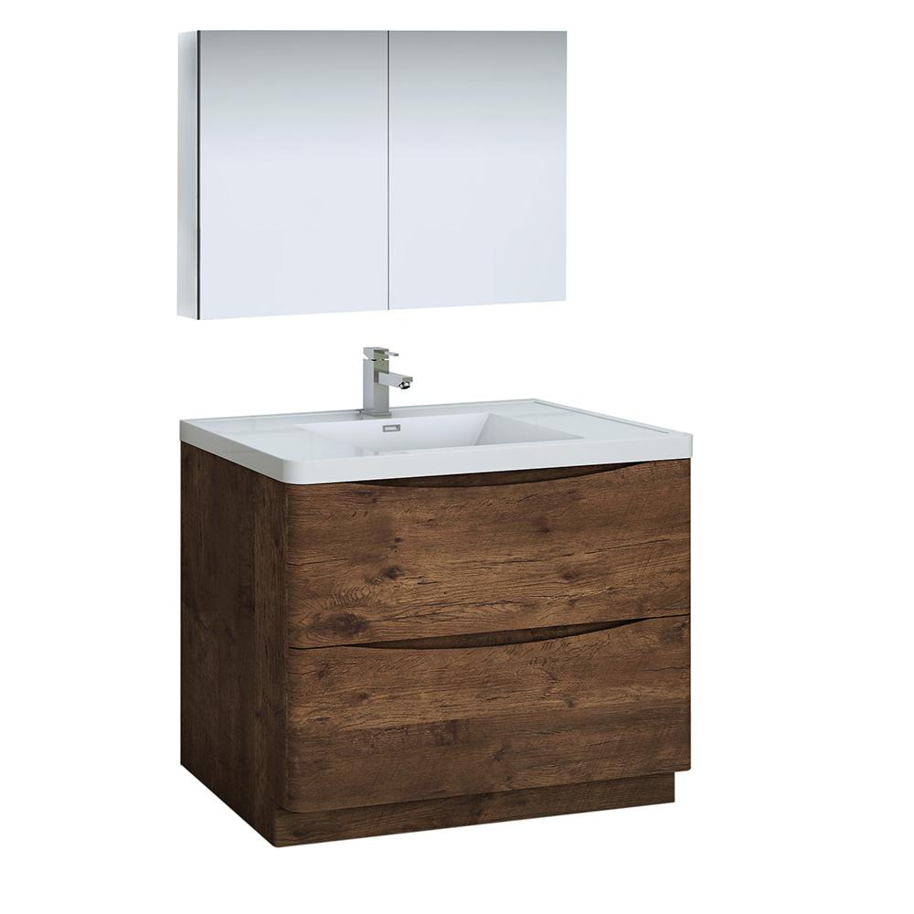 Fresca Tuscany 40 In Modern Bathroom Vanity In Rosewood With