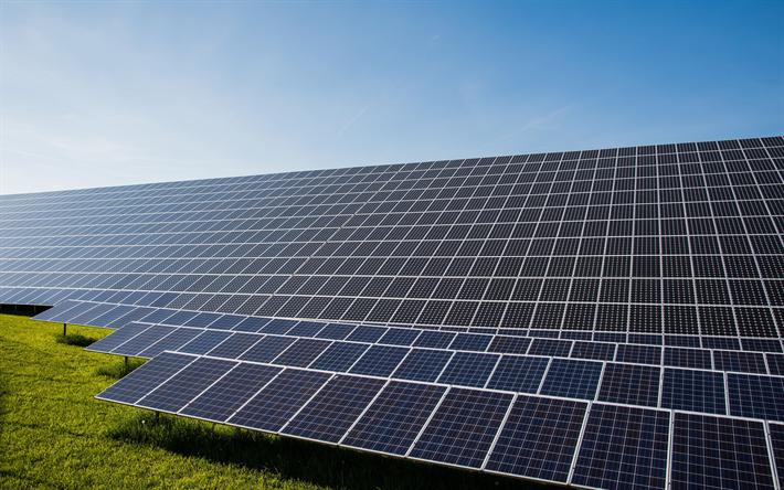 Download Wallpapers Solar Panels 4k Solar Energy Alternative Energy Sources Solar Batteries Fontes Alternativas De Energia Painel Solar Paineis De Energia Solar