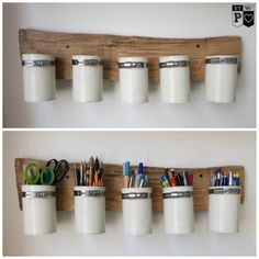 Recycling ideen selber machen  Ordnung im Home-Office. Dosen Recycling, Upcycling. #Stiftehalter ...