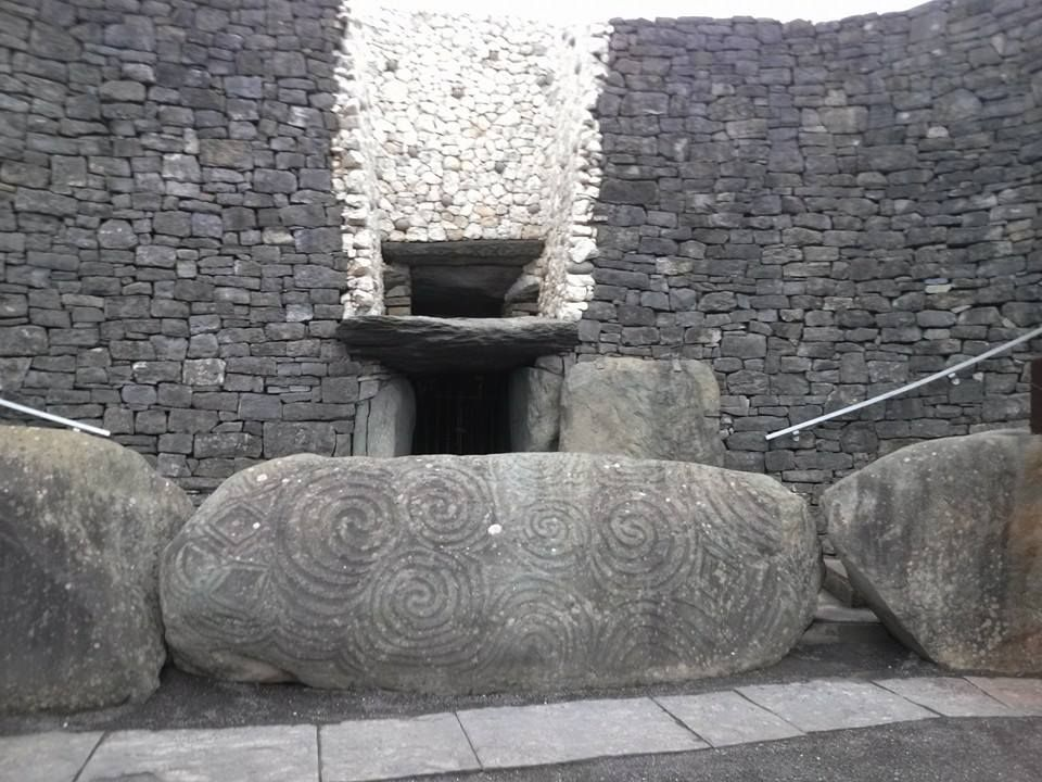 Opening to the ancient passage tomb, Newgrange. This is older than the Pyramids, older than Stonehenge, but not many know about it. http://www.facebook.com/celebratetravelinc