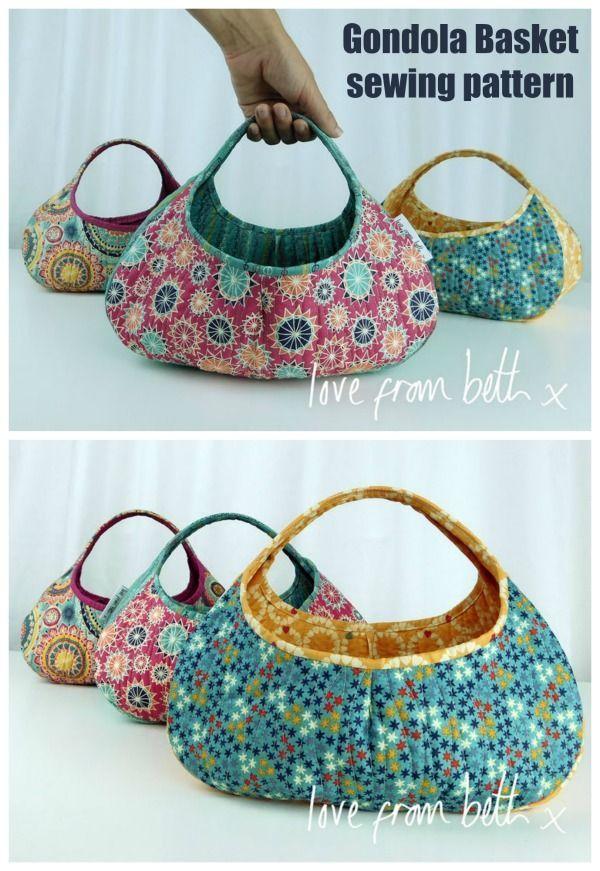 Gondola Basket sewing pattern – Sew Modern Bags