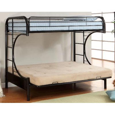 Zoomie Kids Quezada Twin Over Full Futon Bunk Bed Futon Bunk Bed