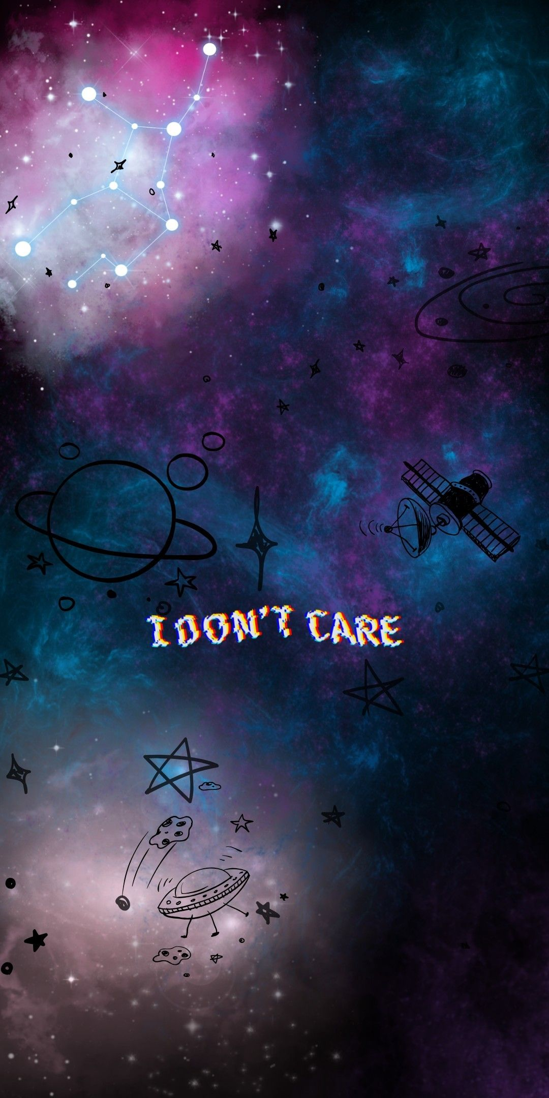I Don T Care Gambar Luar Angkasa Lukisan Galaksi Pemandangan Abstrak