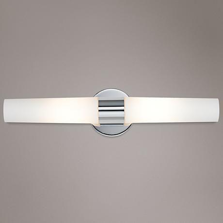George Kovacs Chrome Wide Bathroom Light Fixture Bathroom - Bling bathroom lighting
