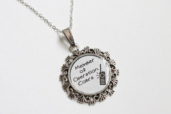 Operation Cobra Necklace OUAT by CissyPixie on Etsy, $12.00