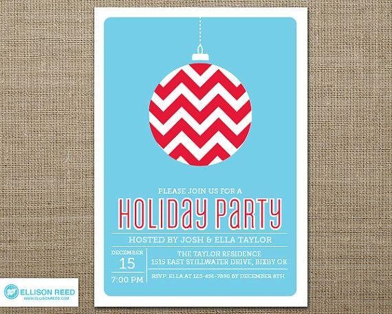Christmas Party Invitation - Christmas Invitation - Holiday Party