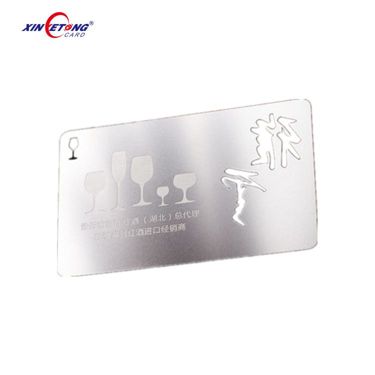 High Grade both side brushed metal stainless steel business card ...