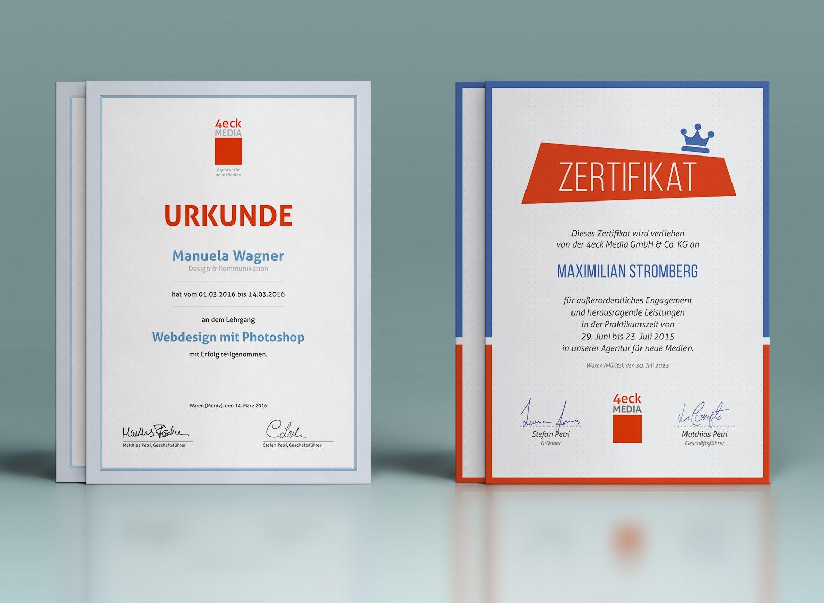 Großes Urkunden- und Zertifikatepaket | Urkunden, Zertifikat und ...