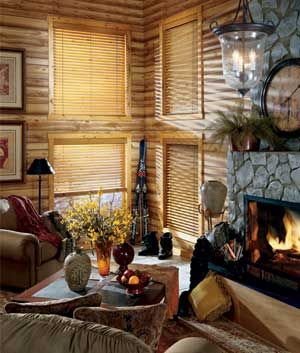 Guide To Window Treatments For Log Homes Rustic Window Treatments Wood Blinds Log Homes
