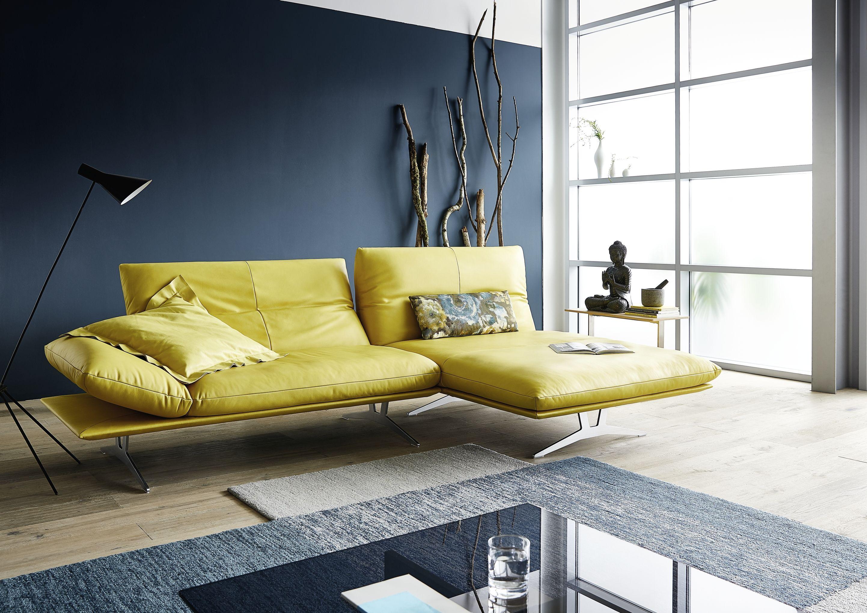 Koinor Ledersofa Francis Gelb Sofa Gelb Wohnzimmer Dekor Modern Sofa Design