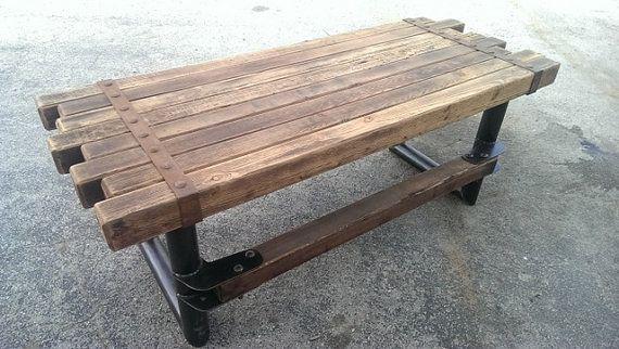 Cedar Steel Rustic Industrial Desk 039 Industrial Style