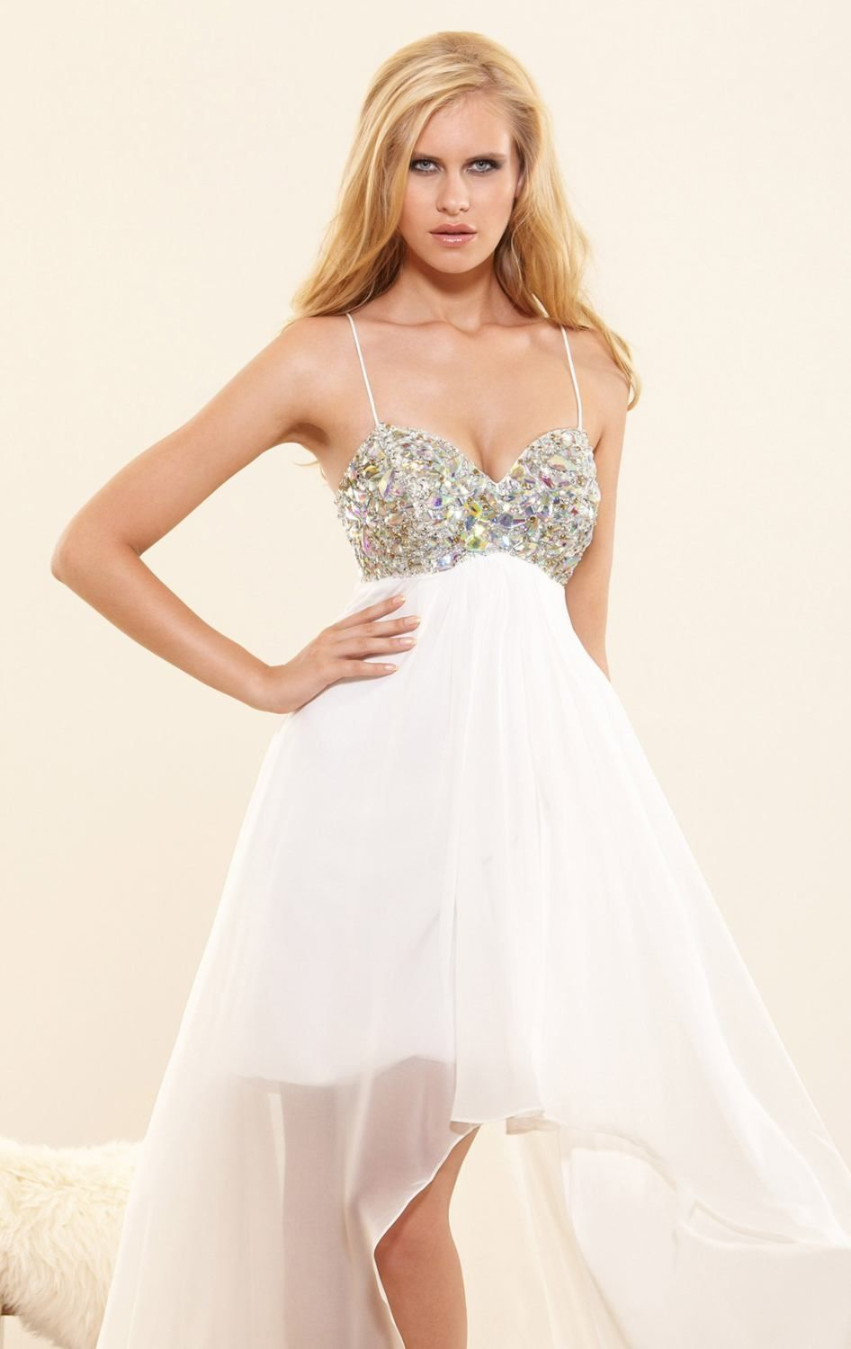 Terani Couture Dress - Strapless Beaded Bodice & Tulle