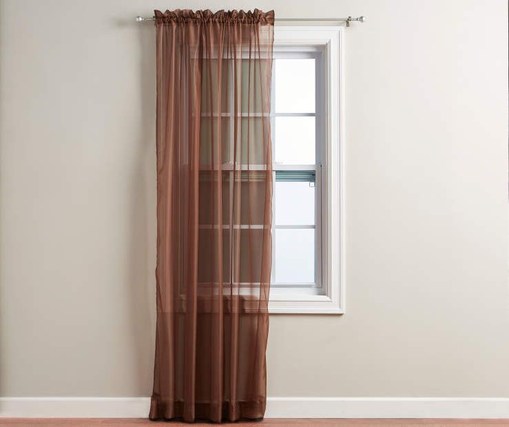 Chocolate Voile Sheer Curtain Panel 84 At Big Lots Panel