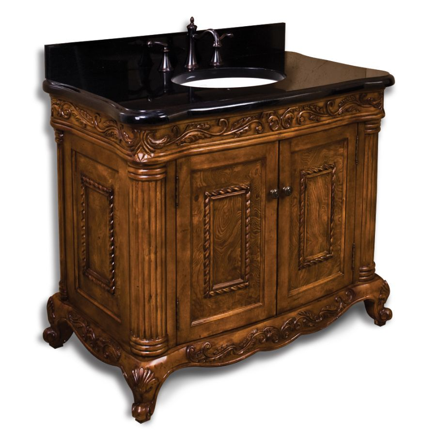Etonnant Burled Ornate Wood Victorian Bathroom Vanity, 39 X X Victorian Furniture  Vanity Of Birch Solids And Birch And Cherry Veneers.