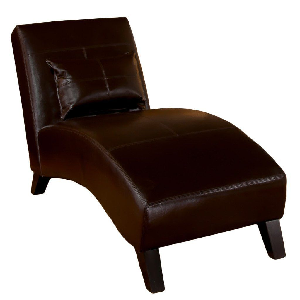 Brown Leather Chaise Lounge Chair .  sc 1 st  Pinterest : leather chaise lounge chair - Cheerinfomania.Com
