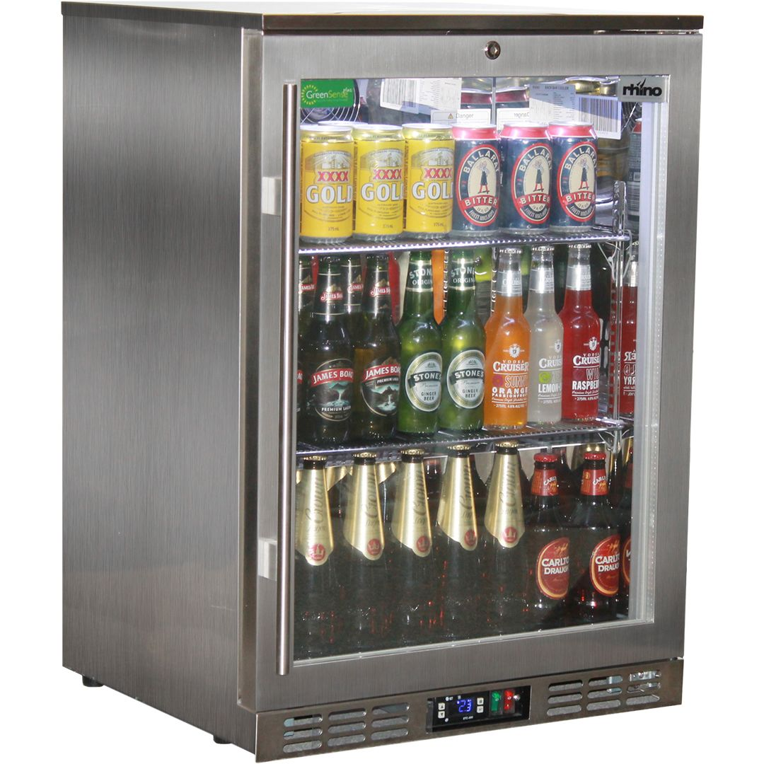 Rhino stainless steel 1 heated glass door bar fridge with lg beer fridges compare price before you buy planetlyrics Choice Image