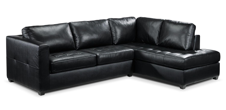 Archer Leather Sleeper Sofa W Chaise Leon S