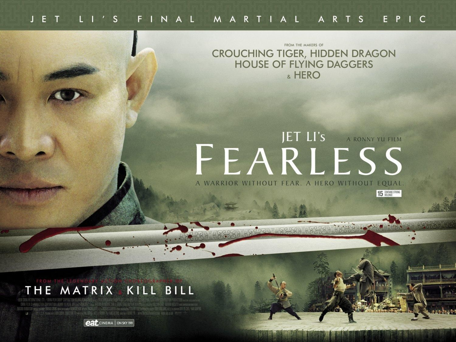 Huo Yuan Jia Poster6 More Movie Posters Fearless Movie Martial Arts Movies Jet Li