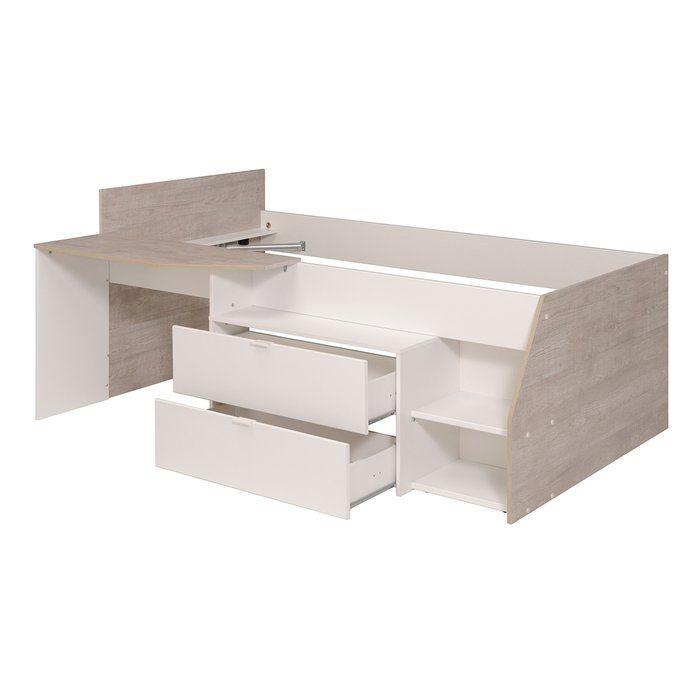 Best Milky Twin Low Loft Bed With Images Low Loft Beds 400 x 300