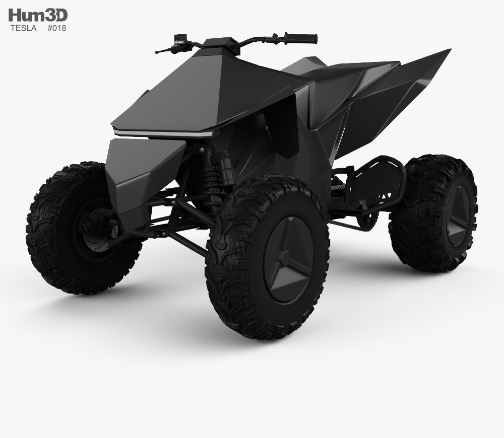 3d Model Of Tesla Cyberquad Atv 2019 Tesla Atv Tesla Motors