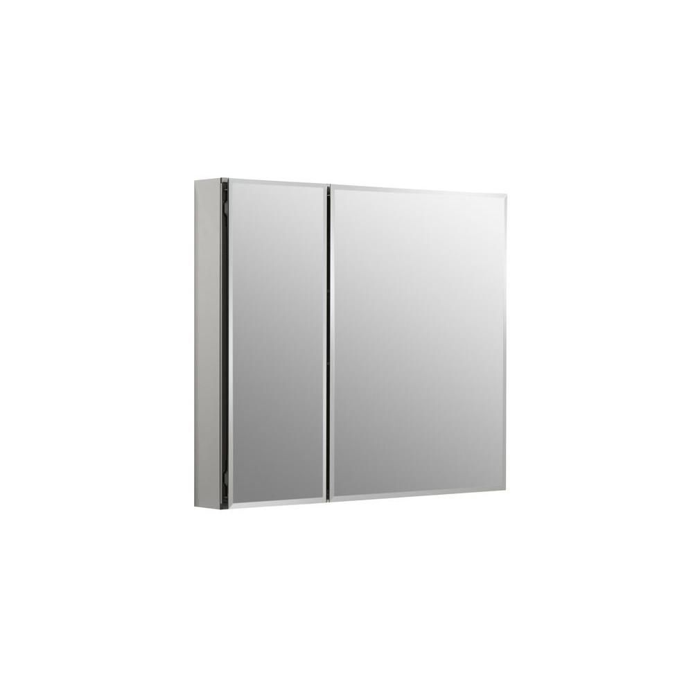 KOHLER 30 in. W x 26 in. H Two-Door Recessed or Surface Mount Medicine Cabinet in Silver Aluminum-K-CB-CLC3026FS - The Home Depot